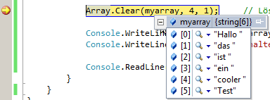 Array.Clear in C#